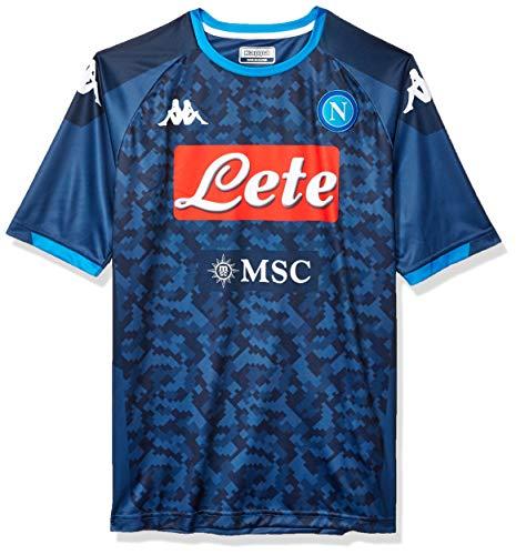 Napoli Away Shirt - Ssc Napoli Italian Serie A Men's Away Replica Goalkeeper Match Shirt, Blue, XL