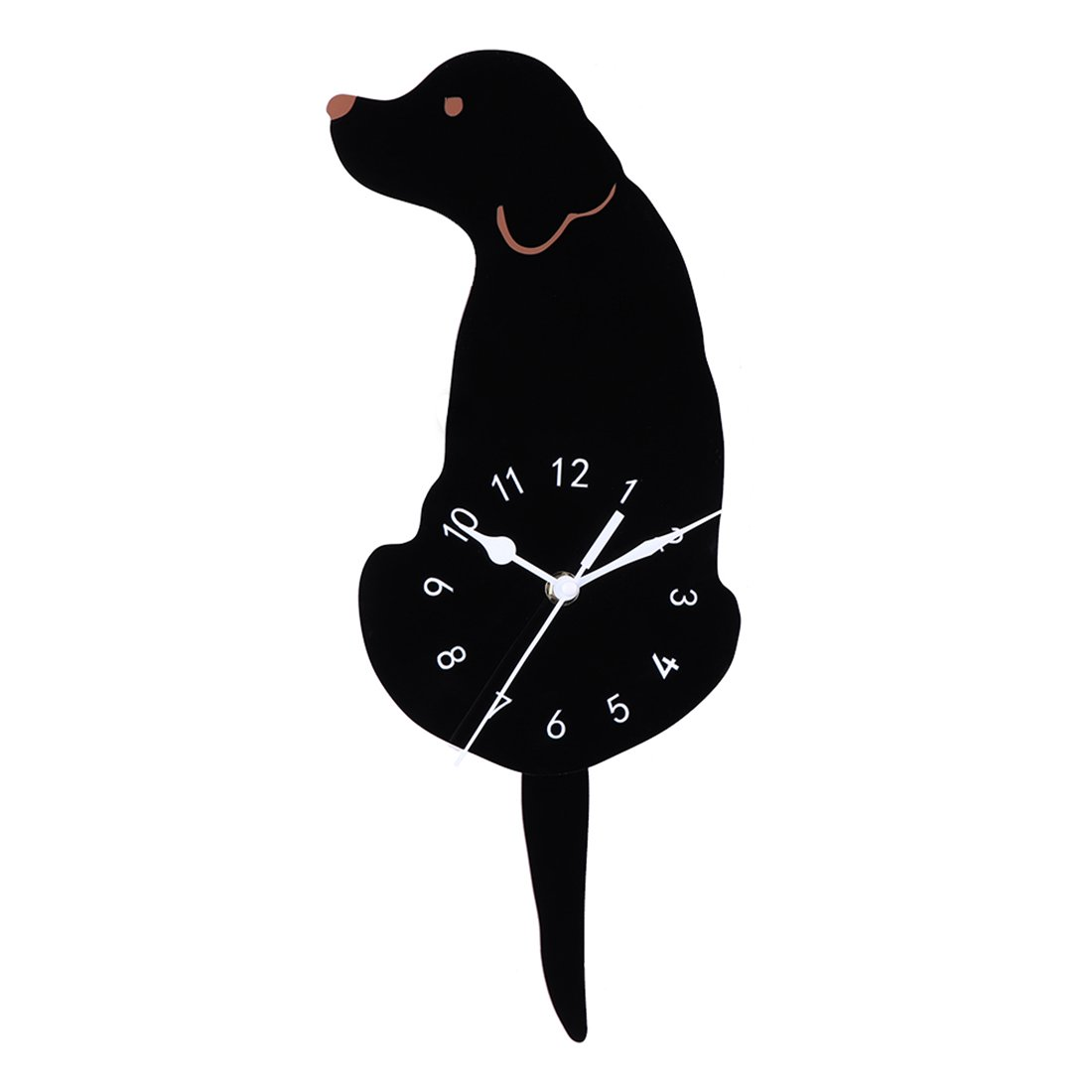Silent Dog Wall Clocks with Wagging Tail