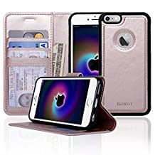 Navor Ultra Slim and Light Premium Wallet Case with Magnetic Detachable Cover for iPhone 6 / 6S [4.7 Inch]- Rose Gold (IP61LRG)