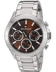 Tommy Hilfiger Mens 1791229 Hudson Analog Display Japanese Quartz Silver Watch