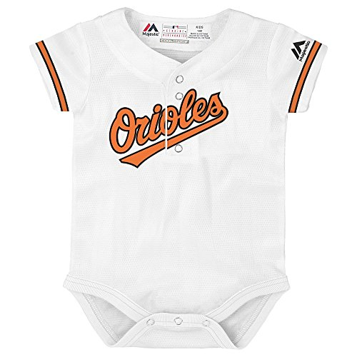 - Outerstuff Baltimore Orioles White Newborn Infants Cool Base Home Creeper Jersey (12 Months)