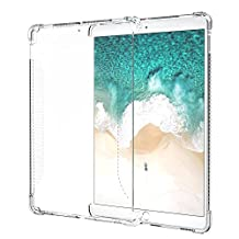 """iPad Pro 10.5 Case, MoKo CLEAR GRIP Shockproof Soft Flexible Transparent TPU Back Cover Protector for iPad Pro 10.5"""" 2017 Tablet, CLEAR (Compatible with iPad Pro Official Smart keyboard & Smart Cover)"""