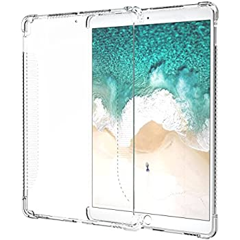 """MoKo Case for iPad Pro 10.5, CLEAR Shockproof Soft Flexible Transparent TPU Back Cover Protector for iPad Pro 10.5"""" 2017 Tablet, CLEAR (Compatible with iPad Pro Official Smart keyboard & Smart Cover)"""