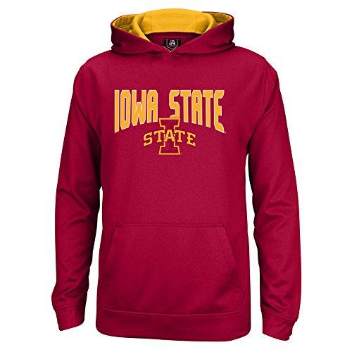 (J America NCAA Iowa State Cyclones Kids & Baby Foundation Poly Hoodie, Small, Garnet/Gold )