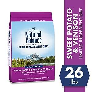 Natural Balance Limited Ingredient Diets Sweet Potato & Venison Formula Dry Dog Food, 26 Pounds, Grain Free