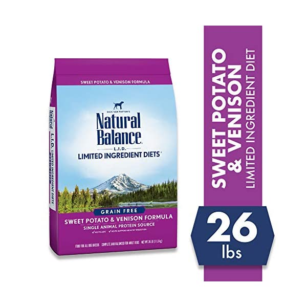 Natural Balance Limited Ingredient Diets Sweet Potato & Venison Formula Dry Dog Food, 26 Pounds, Grain Free