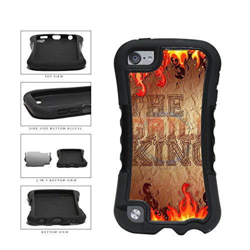 Father Husband Flames The Grill King 2-Piece Dual Layer Phone Case Back Cover For Apple iPod Touch 5th Generation comes with Security Tag and MyPhone Designs(TM) Cleaning Cloth