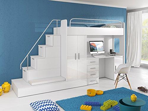 Furnistad Etagenbett Heaven : Furnistad hochbett für kinder sun kinderhochbett mit treppe