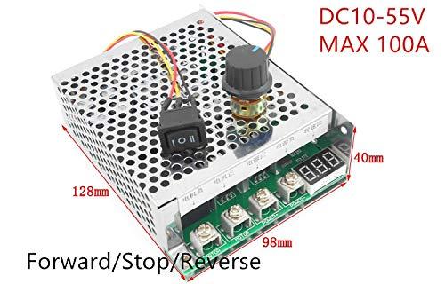 Laliva Tool - DC Brush Motor Speed Regulator DC 12V 24V 36V 48V 5500W High Power 100A Reversible Motor Controller