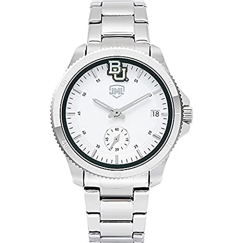 Jack Mason League Womens NCAA Silver Sport Watch (Baylor) (Baylor Watches)