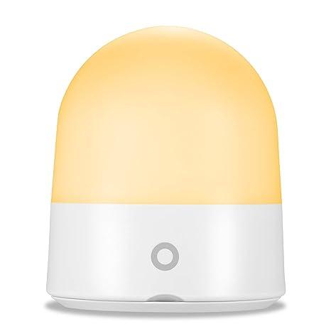 COMLIFE Luz Nocturna Infantil Lámpara LED Control Táctil Seguro ABS+PP Cuidado con Ojos Multi