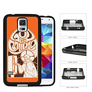 God Is Calling Orange Collage Art Rubber Silicone TPU Cell Phone Case Samsung Galaxy S5 SM-G900