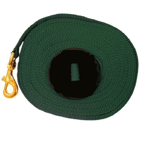 Intrepid International Lunge Line with Rubber Stopper, Hunter Green, 25-Feet