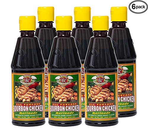 Bourbon Chicken Sauce Marinade Authentic Food Court Restaurant Flavor | Unique Seasoning Spice Mix | Sweet Savory Smoky Taste | Easy Home Cooking Recipes by BC Original (Pack of 6) (The Best Bourbon Chicken)
