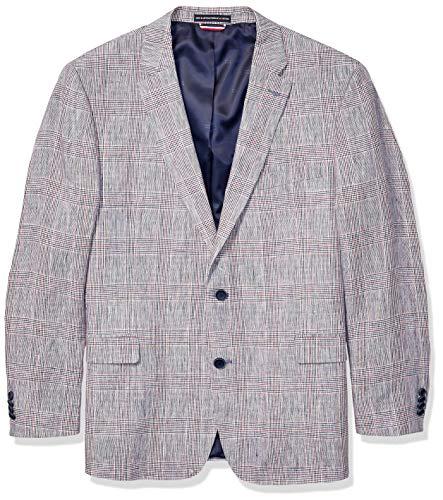 Tommy Hilfiger Men's Big and Tall Modern Fit Stretch Comfort Blazer, USA Plaid, 46L