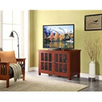 Better Homes and Gardens Oxford Square TV Stand and Console for TVs up to 55 - Red