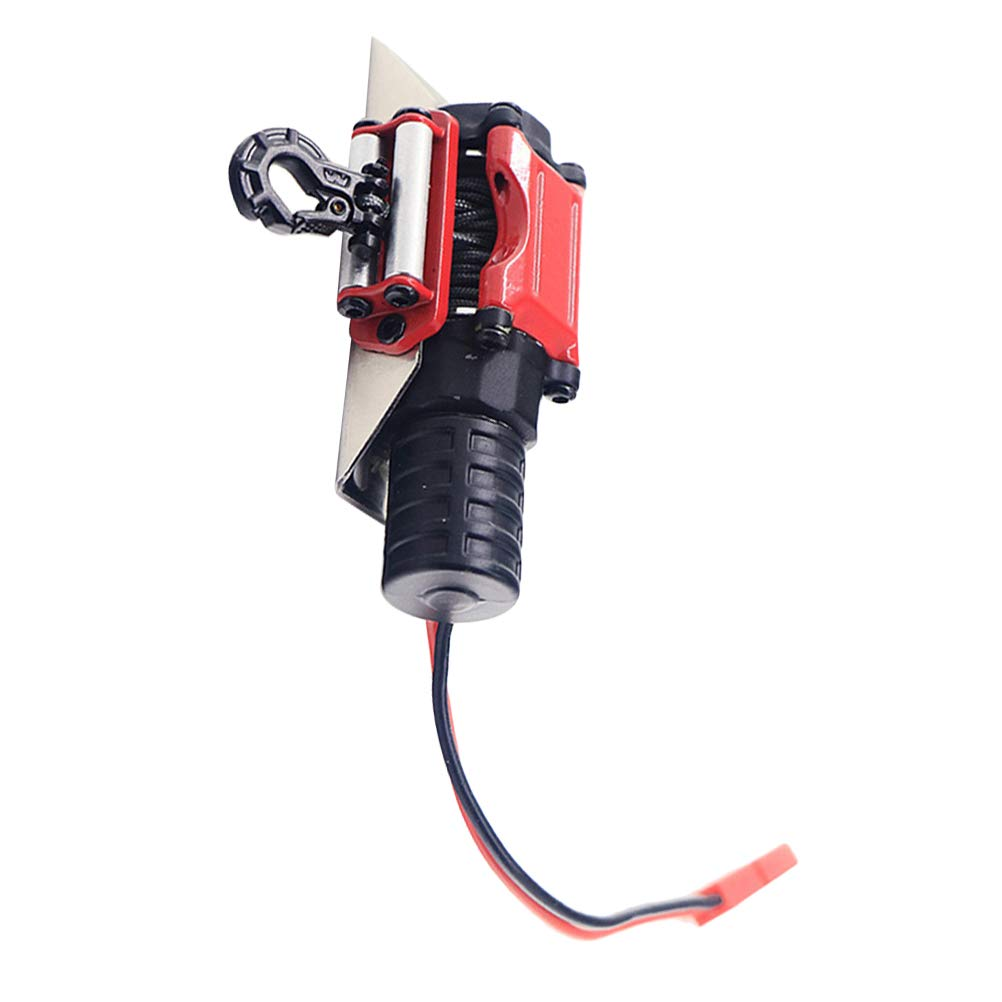 Toyvian RC Winch 1/10 Metal Steel Wired Simulated Winch with Switch for Car Rock Crawler by Toyvian (Image #5)