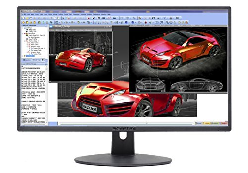 "Sceptre E248W-19203R 24"" Ultra Thin 75Hz 1080p LED Monitor 2x HDMI VGA Build-in Speakers"