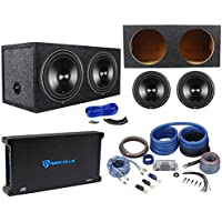 (2) Rockford Fosgate Punch P3D2-12 12 Subs+Sealed Box+1500W Amplifier+Amp Kit