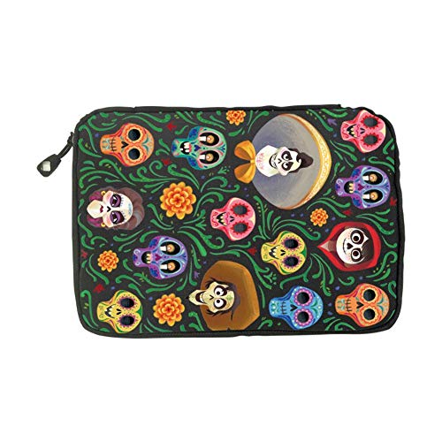 Coco Guitar Pattern Halloween Costumes Fashion 3D Printing Electronics Accessories Organizer Bag,Portable Tech Gear Phone Accessories Storage Carrying Travel Case Bag, Earphone Cable Organizer Bag