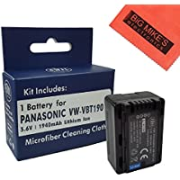 BM Premium VW-VBT190 Battery for Panasonic HC-V201, HC-V210, HC-V250, HC-V380, HC-V510, HC-V520, HC-V550, HC-V710, HC-V720, HC-V750, HC-V770, HC-VX870, HC-VX981, HC-W580, HC-W850, HC-WXF991 Camcorder