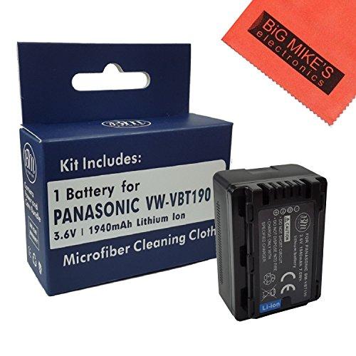 Panasonic HC-V380, HC-V510, HC-V520, HC-V550, HC-V710, HC-V720, HC-V750, HC-V770, HC-VX870, HC-VX981, HCW580, HCW850, HC-WXF991 Camcorders