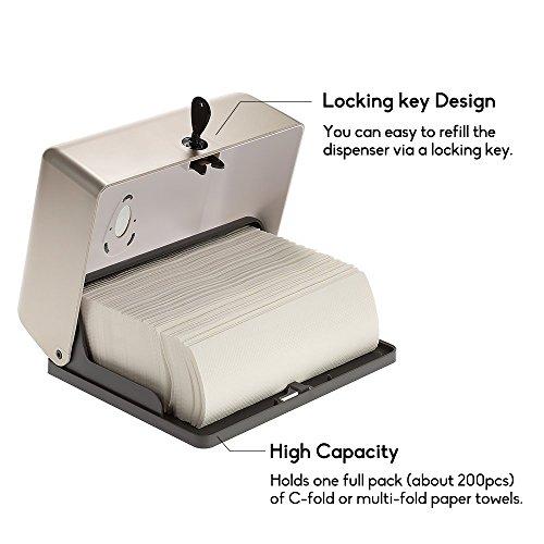 BBX Lephsnt CHUANGDIAN Wall-Mounted Bathroom Paper Towel Dispenser (Champagne Gold) by BBX Lephsnt (Image #2)