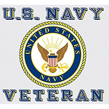 Amazon United States Navy Veteran Car Decal Us Navy Gifts