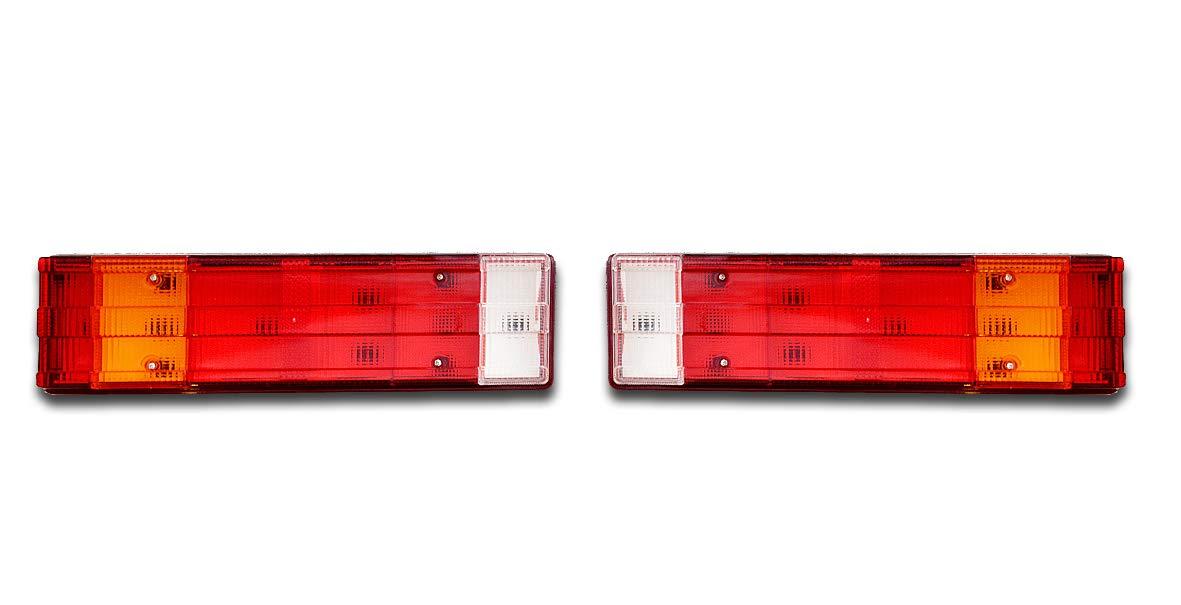 rimorchio roulotte camper autobus roulotte 2 x luci di stop posteriori per retromarcia classiche M E R C E D E S lampade per camion trattore camper