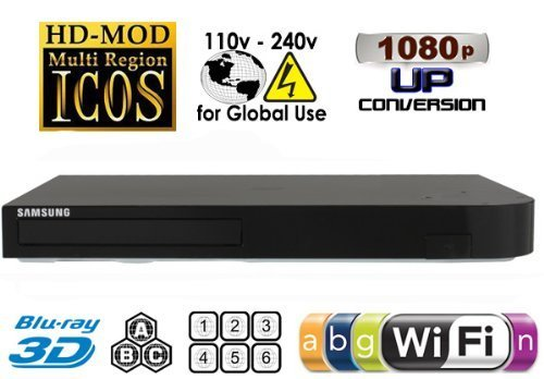 Samsung BD-J5900 Upgraded Wi-Fi Multi Region Zone Free Blu Ray DVD Player - PAL/NTSC 3D