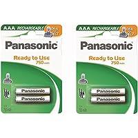 Panasonic HHR-4DPA HHR-4DPA/2B Replacement Battery for Panasonic DECT 6.0 and KX-TG4300 Series Cordless Phones 2 Packs of 2