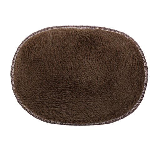 3040cm Anti-Skid Fluffy Shaggy Area Rug Kanhan Home Bedroom Rug Bathroom Rug Floor Door Mat (Coffee) - Pts Coffee