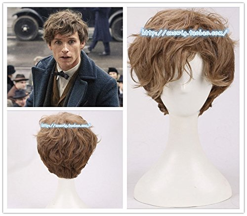 Price comparison product image Fantastic Beasts and Where iute brown gradient curls a little patch of short hair wig spot