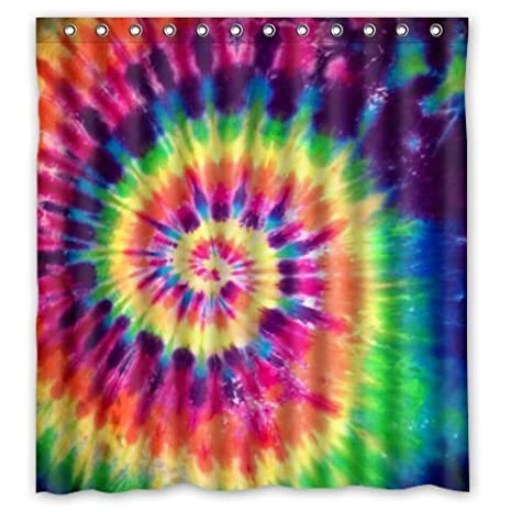 66u0026quot;(Width) X 72u0026quot;(Height) Colorful Tie Dye Shower Curtain
