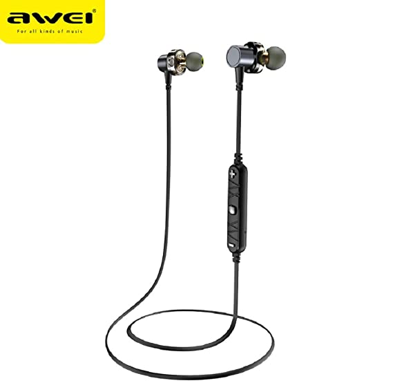 Amazon.com: WSJ AWEI X660BL Wireless Sports Bluetooth Headset, Metal Magnetic, Stereo Sound Quality, no Noise, Light Neck-Mounted Waterproof Headset: ...