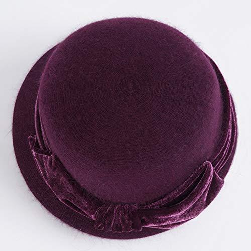 F Sombrero Sombrero I Punto Duxx De Invierno Acolchado color Orejeras Calientes Dos Mujer Piezas Grueso Bwx6qxd4
