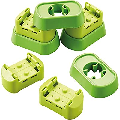 HABA Kullerbu Expansion Set - Connectors and Base - 8 Piece Set for Elevated Layouts: Toys & Games