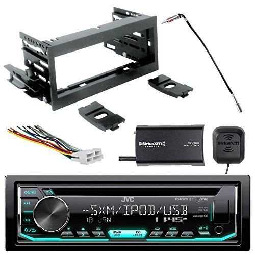 EnrockAudio JVC Single DIN CD AM/FM SiriusXM-Ready Radio, Scosche GM1483B Dash Kit, GM02B Radio Wiring Harness, Enrock Antenna Adapter, Sirius-XM Tuner (Fits 95-02 GM Full Size)