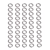 OTGO 50Pcs Stainless Steel Fishing Solid Snap Split Ring Lure Tackle Connector (XL) For Sale