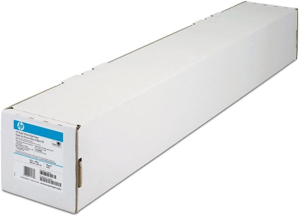 HP Bright White 420 mm x 45.7 m (16.54 in x 150 ft) - Papel para plotter: Amazon.es: Oficina y papelería