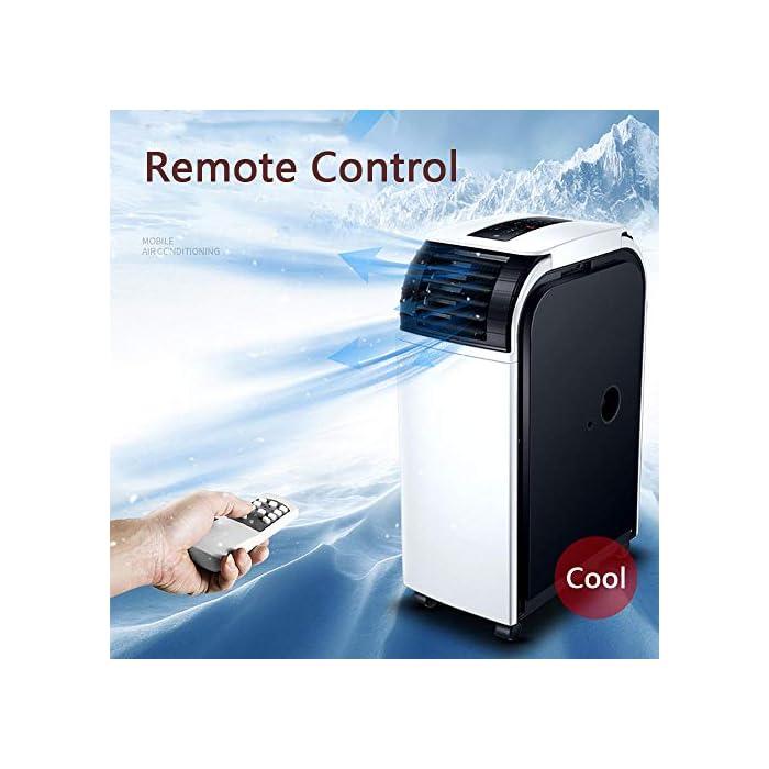 51d3Nm017tL ★Multifunción: combinación de aire acondicionado portátil, con enfriador de aire, deshumidificación, función de ventilador. ★Función de enfriamiento: capacidad de enfriamiento de 19000BTU, siente el efecto de enfriamiento súper potente, con sistema de filtración de aire, puede mejorar la calidad del aire. ★Función de deshumidificación: le permite extraer hasta 60 litros de exceso de agua y humedad de la atmósfera todos los días.