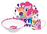 My Little Pony Pinkie Pie 3 Piece Ceramic Plate, Bowl & Mug Set