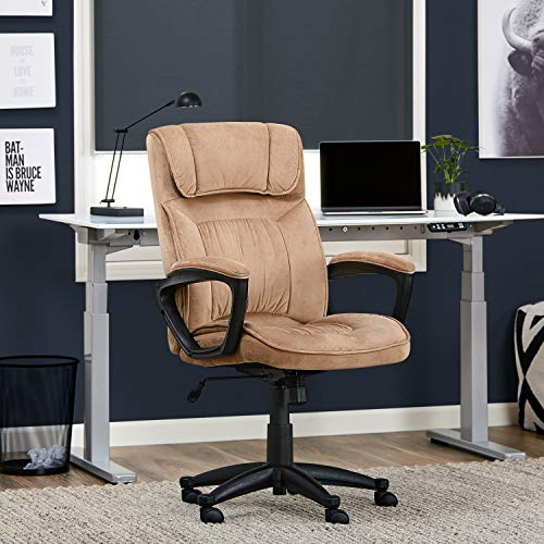 Serta Style Hannah I Office Chair, Microfiber, Light - Chair Beige Microfiber