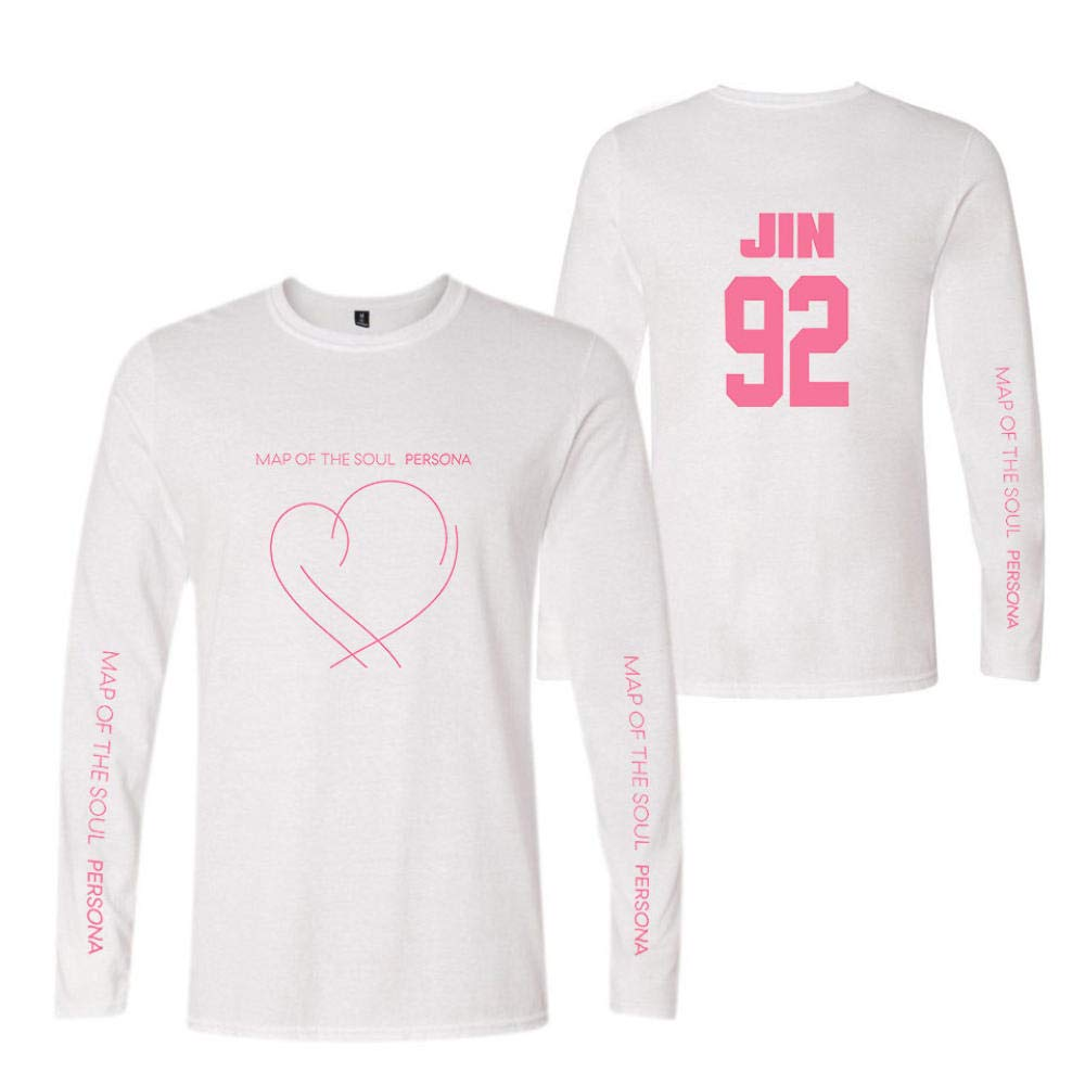 Printed Long-Sleeved T-Shirt,Digital Print Couple Comfortable Sweatshirts Exercise Fitness and Tights Sports J-Hope BTS