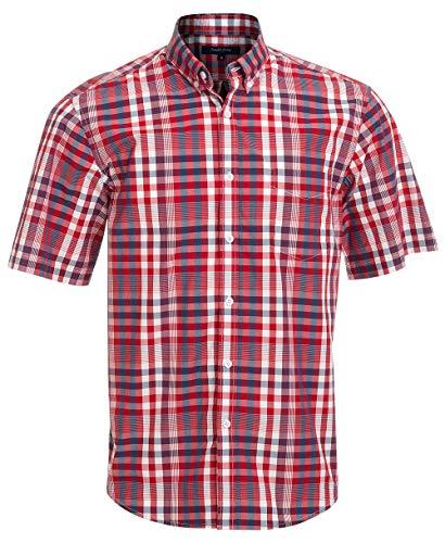 (Double Pump Short Sleeve Shirts for Men 100% Cotton Regular Fit Short Sleeve Button Down Shirts for Men(RM09SS03,M))