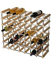 RTA 49 fles traditionele wijnrek-kit-natuurlijke grenen (FSC), hout, 71,6 x 61,9 x 23,3