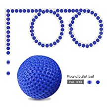 JouerNow 100Pcs Compatible Round Refill Bullet Balls 2.3cm For Nerf Rival Apollo Zeus Toy Gun Kid Game Play (Blue)