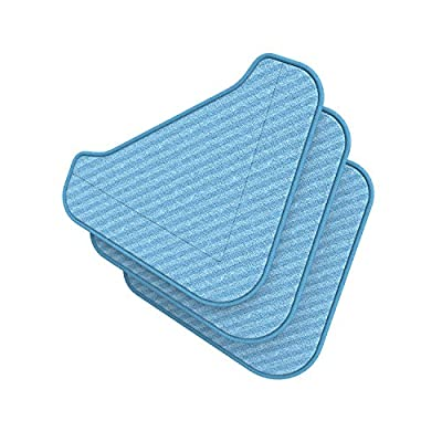 Ultra-Absorbent Triangle Replacement Mop Pads for PureClean XL Rolling Steam Cleaner with New Triangle Mop Head — 3 Pack