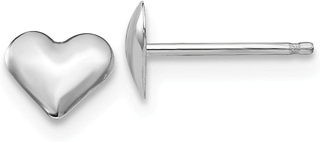 B007RDMROU 14k White Gold Small Heart Post Stud Earrings Love Fine Jewelry For Women Gifts For Her 515Hbv4SdgL