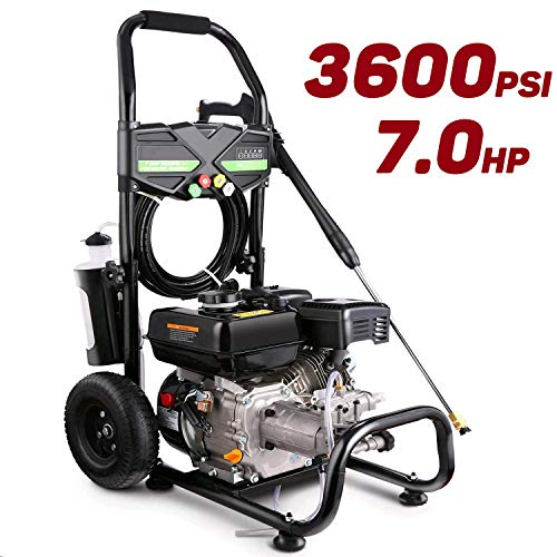 Pujua 3600PSI 2.8GPM Gas Pressure Washer Power Washer 212CC Gas Powered Pressure Washer, 2-Year Warranty (Black)